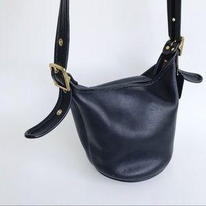 Vintage Coach Helens Legacy Black Leather Purse